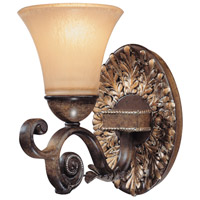 Metropolitan Veranda Crest  1 Light Bath in Aged Black Walnut with Antique Silver Highlights N2501-242