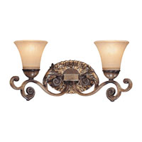 Metropolitan Veranda Crest  2 Light Bath in Aged Black Walnut with Antique Silver Highlights N2502-242