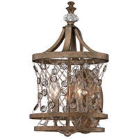Metropolitan Vel Catena 2 Light Wall Sconce in Arcadian Gold N2582-272