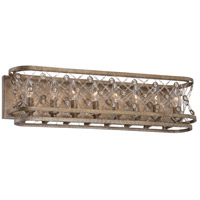 Vel Catena 8 Light 28 inch Arcadian Gold Bath Bar Wall Light