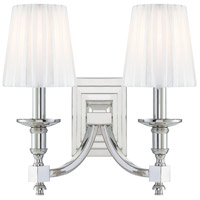 Metropolitan Signature 2 Light Sconce in Polished Nickel N2642-613