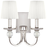 Aise 2 Light 14 inch Polished Nickel Wall Sconce Wall Light