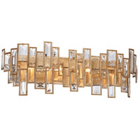 Bel Mondo 4 Light 25 inch Luxor Gold Bath Bar Wall Light