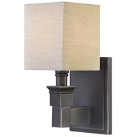Signature 1 Light 5 inch Black Bronze Sconce Wall Light