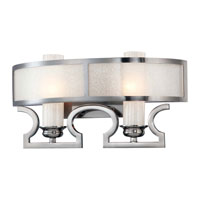 Metropolitan Castellina  2 Light Bath in White Iris Finish N2702-84B