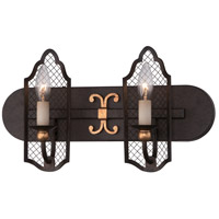 Cortona 2 Light 18 inch French Bronze/Gold Bath Bar Wall Light