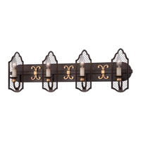 Metropolitan Cortona 4 Light Bath Bar in French Bronze with Gold Highlights N2714-258B