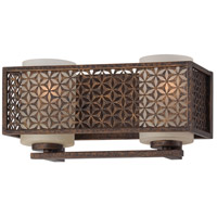 Metropolitan Ajourer 2 Light Bath in French Bronze N2722-258