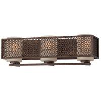 Metropolitan N2723-258 Ajourer 3 Light 21 inch French Bronze Bath Bar Wall Light