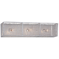 Saybrook 3 Light 25 inch Catalina Silver Bath Bar Wall Light