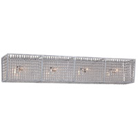 Saybrook 4 Light 33 inch Catalina Silver Bath Bar Wall Light