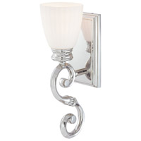 Metropolitan N2801-613 Signature 1 Light 5 inch Polished Nickel over a Solide Brass Frame Bath Wall Light photo thumbnail