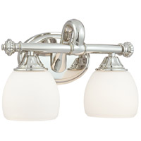 Signature 2 Light 14 inch Polished Nickel Bath Bar Wall Light