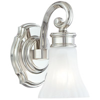 Signature 1 Light 5 inch Polished Nickel Bath Wall Light