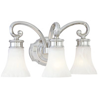Metropolitan Signature 3 Light Bath in Polished Nickel N2843-613