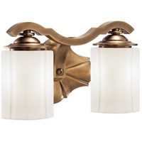 Leicester 2 Light 12 inch Aged Brass Bath Bar Wall Light