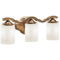 Metropolitan Leicester 3 Light Bath in Aged Brass N2943-575
