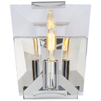 Castle Aurora 1 Light 6 inch Polished Nickel Bath Bar Wall Light