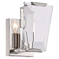Metropolitan Castle Aurora 1 Light Bath Bar in Polished Nickel N2981-613