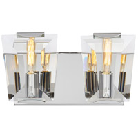 Castle Aurora 2 Light 12 inch Polished Nickel Bath Bar Wall Light