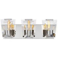 Castle Aurora 3 Light 19 inch Polished Nickel Bath Bar Wall Light