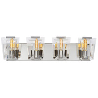 Castle Aurora 4 Light 26 inch Polished Nickel Bath Bar Wall Light