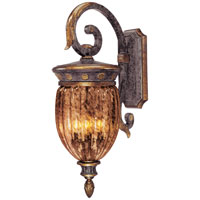 Metropolitan Sanguesa 3 Light Outdoor Wall in Saguesa Patina N3071-194