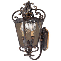 Metropolitan Signature 2 Light Outdoor Wall in Terraza Villa Aged Patina w/ Gold Leaf Accents N3246-270