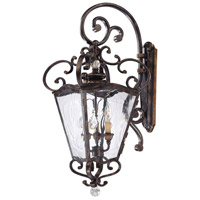 Metropolitan N3247-270 Signature 3 Light 14 inch Terraza Village Aged Patina with Gold Leaf Accents Outdoor Lantern