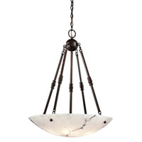 Signature 5 Light 27 inch Bronze Patina Pendant Ceiling Light