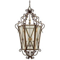 Signature 3 Light 27 inch Castlewood Walnut/Silver Foyer Pendant Ceiling Light