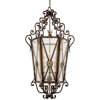 Metropolitan Metropolitan Family 6 Light Foyer Chandelier in Castlewood Walnut w/Silver Highlights N3641-301