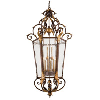 Zaragoza 12 Light 34 inch Golden Bronze Foyer Pendant Ceiling Light
