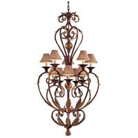 Zaragoza 10 Light 36 inch Golden Bronze Chandelier Ceiling Light