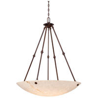 Virtuoso II 6 Light 35 inch Bronze Patina Pendant Ceiling Light