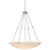 Virtuoso II 6 Light 35 inch Plated Pewter Pendant Ceiling Light in Pewter (Plated)