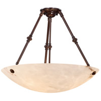 Virtuoso Ii 5 Light 27 inch Bronze Patina Semi Flush Mount Ceiling Light
