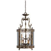 Signature 9 Light 22 inch Oxide Brass Foyer Pendant Ceiling Light