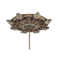 Metropolitan Veranda Crest Ceiling Canopy in Aged Black Walnut w/Antique Silver Highlights N5501-242