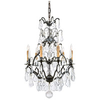 Signature 6 Light 24 inch Patina Bronze Chandelier Ceiling Light