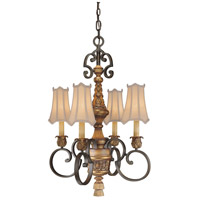 Metropolitan Habana Nights  4 Light Chandelier in Habana Night w/Gold Highlights  N6004-476