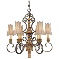 Metropolitan Habana Nights  6 Light Chandelier in Habana Night w/Gold Highlights  N6006-476