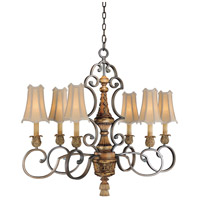 Metropolitan Habana Nights  6 Light Chandelier in Habana Night w/Gold Highlights  N6007-476