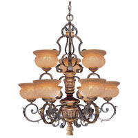 Metropolitan Habana Nights  2 Light Chandelier in Habana Night w/Gold Highlights  N6008-476