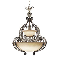 Metropolitan Jessica Mcclintock Home Romance 6 + 3 Light Pendant in Ravello Bronze w/Gold Highlights N6014-198 photo thumbnail