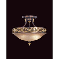 Metropolitan Mariner Metropolitan 3 Light Semi-flush in Iberian Bronze w/Gold Highlights N6023-187
