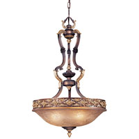 Metropolitan Mariner 3 Light Pendant in Iberian Bronze w/Gold Highlights N6024-187