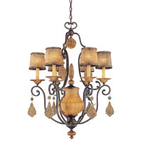 Metropolitan Monte Titano  7 Light Chandelier in Monte Titano Oro N6030-159 photo thumbnail