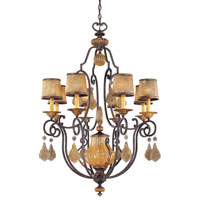 Metropolitan Hearst Castle 8 + 1 Light Chandelier in Monte Titano Oro N6031-159