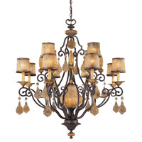Metropolitan Hearst Castle 12 + 1 Light Chandelier in Monte Titano Oro N6039-159